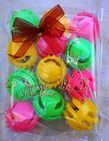 CHRISTMAS CAT TOY PACK - HAND DECORATED AND FILLED WITH 12 ASSORTED CAT BALL TOY